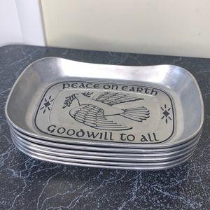 6Wilton Armetale peace on earth pewter bread tray